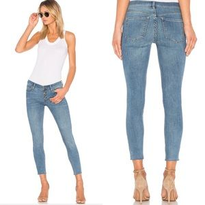 Free People Reagan Button Front Jean in Sky